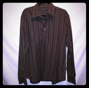 Ted Baker Mens Sz 5 Brown Multicolor Shirt